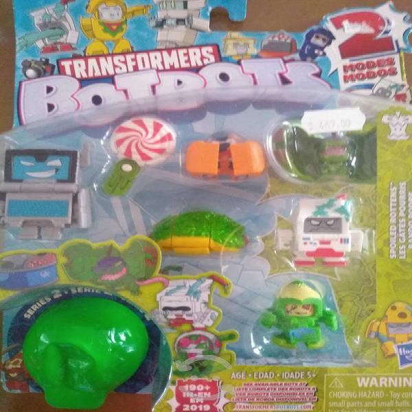 Botbots Transformers Serie 2 con 7 piezas + 1 sorp