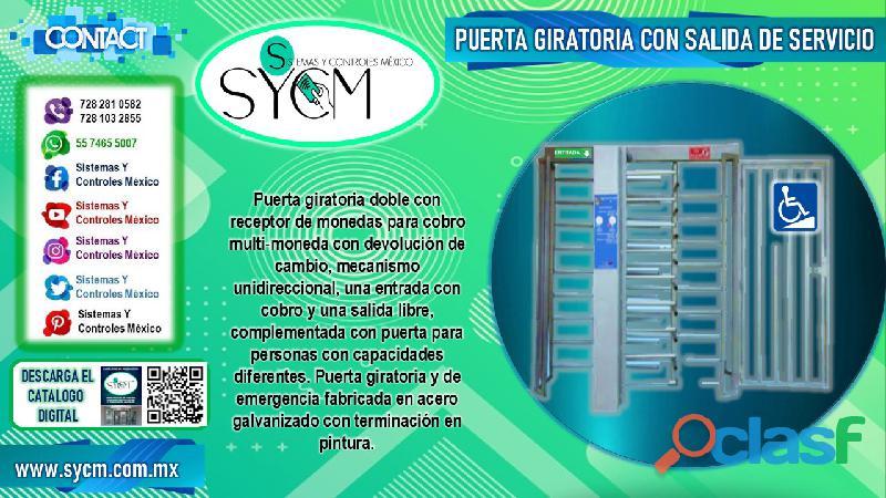 Puerta giratoria con acceso de servicio – sycm