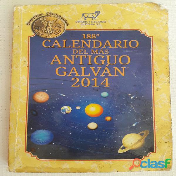 Libro 188 calendario del mas antiguo galvan 2014