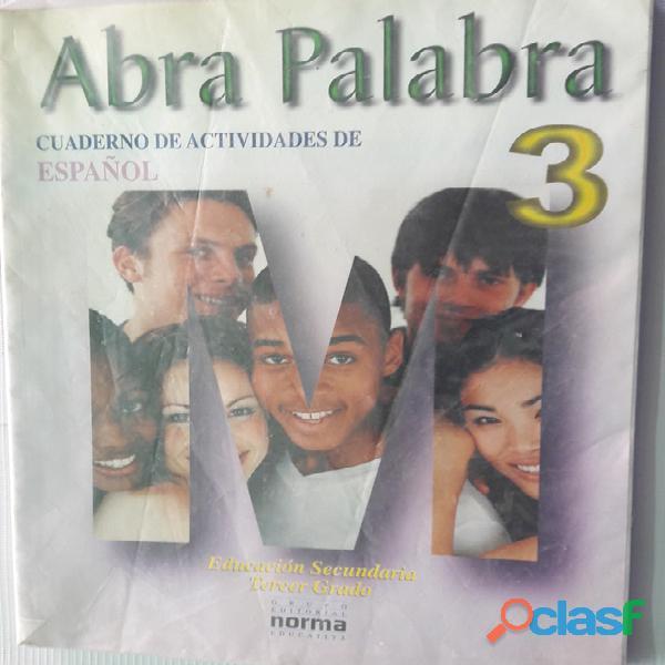 Libro abra palabra 3. cuaderno de actividades de español