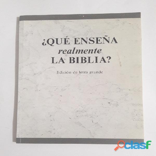 Libro ¿qué enseña realmente la biblia?