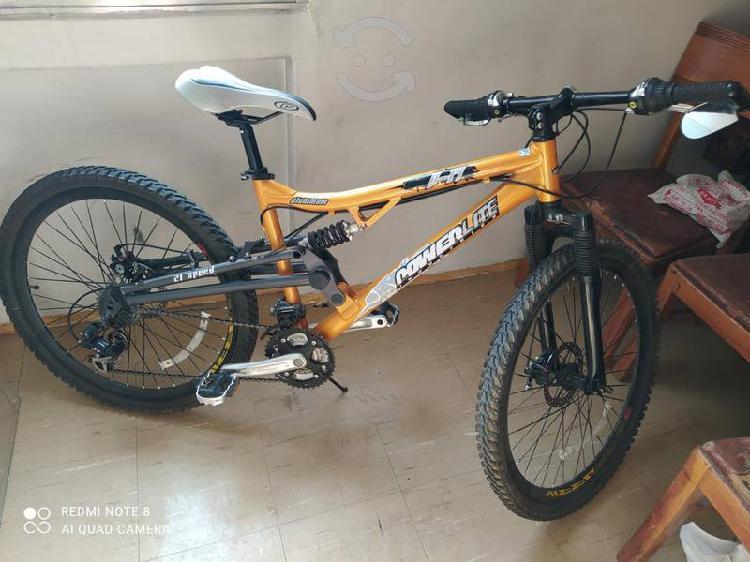 Bicicleta montaña aluminio power lite r-26. 21 cam