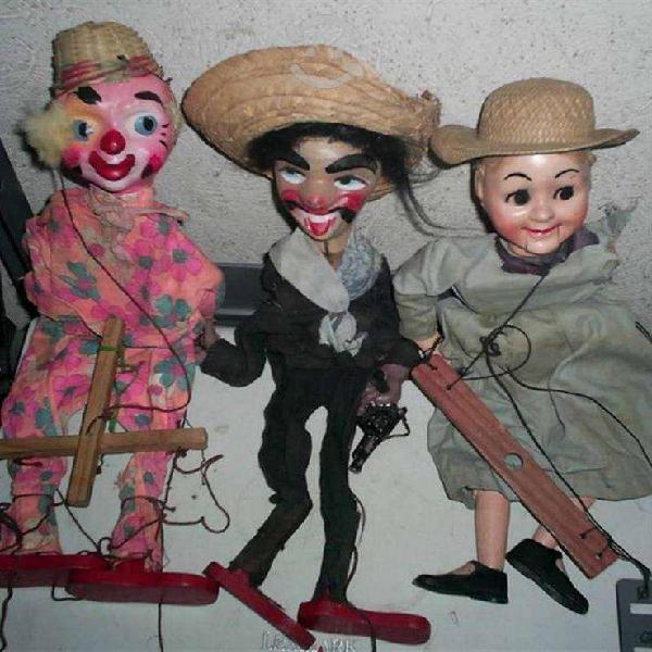 Marionetas antiguas años 20s juguetes antiguos.