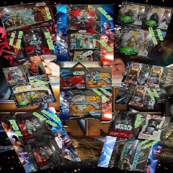 Star wars, naves, figuras, lector de sonidos y mas
