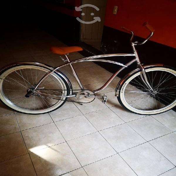 Bicicleta 26 vintage cromada