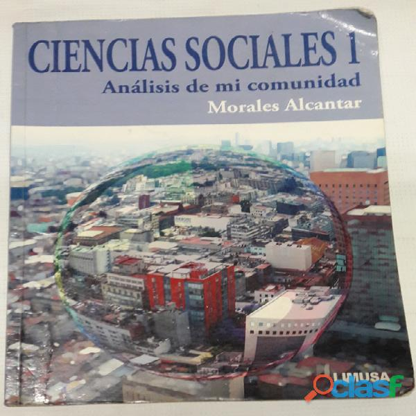 Libro Ciencias Sociales 1. Análisis de mi Comunidad