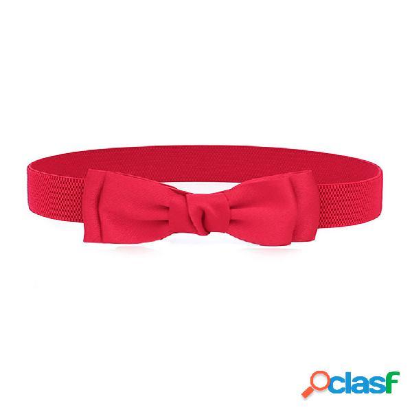 Mujer elástico banda lazo cintura súper ancha hebilla colgante cinturón vestido accesorios