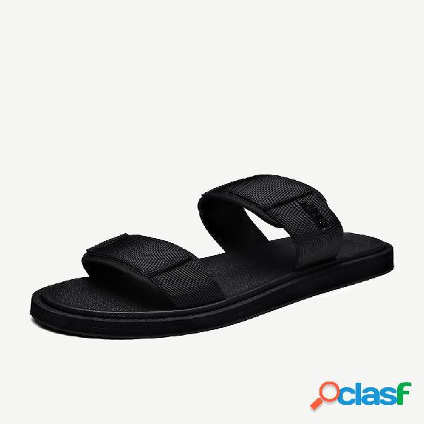 Zapatos informales con punta abierta para hombre playa slide zapatillas