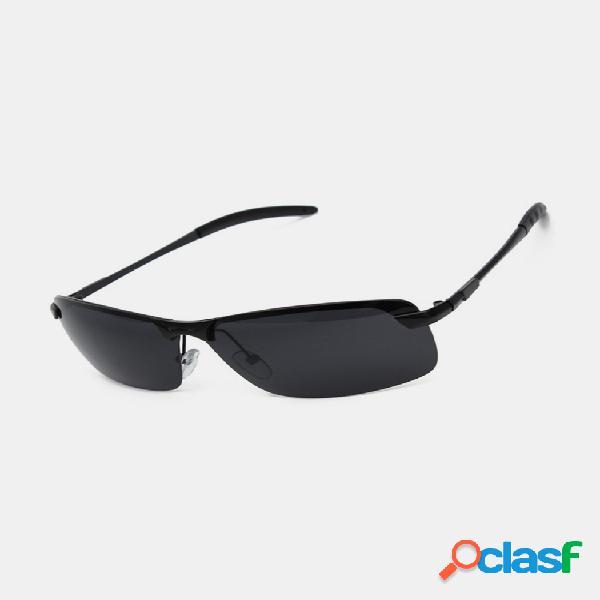Hombre Negro UV400 Gafas de sol polarizadas al aire libre Gafas Gafas de conducción