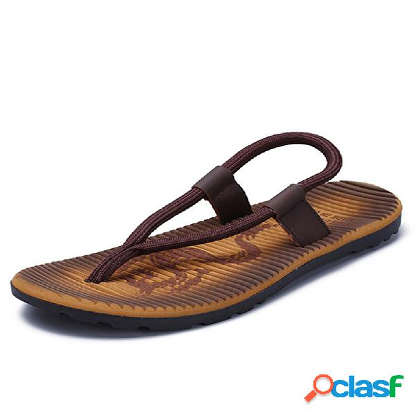 Hombres estilo roma bloqueo de color peso ligero casual playa sandalias