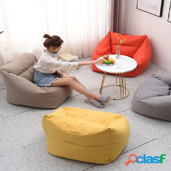 Color sólido square big bean bolsa fundas para sillas yellow bean bolsa silla con bolsillo para el hogar de adultos