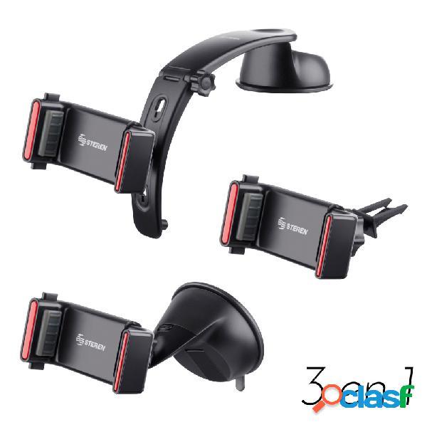 Steren soporte para smartphone 3 en 1 pod-275, negro