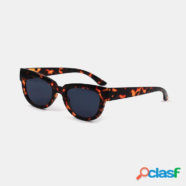 Mujer moda casual plus talla hawksbill montura completa uv gafas de sol de protección