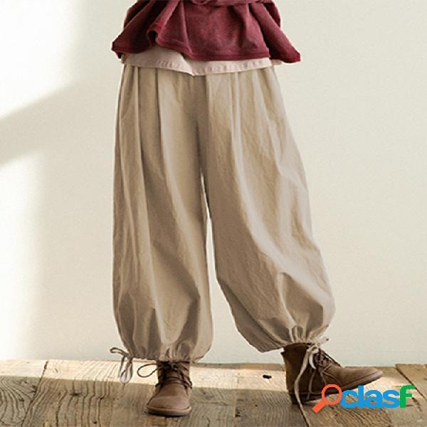 Casual tobillo flojo suelto carga plus tamaño pantalones