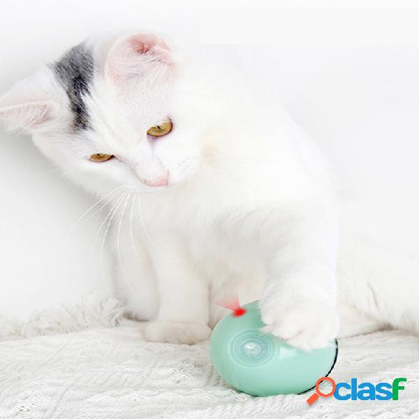 Juguete para gatos gato usb láser suministros para mascotas de juguete nuevo led flash bola rodante juguete para gatos bola brillante