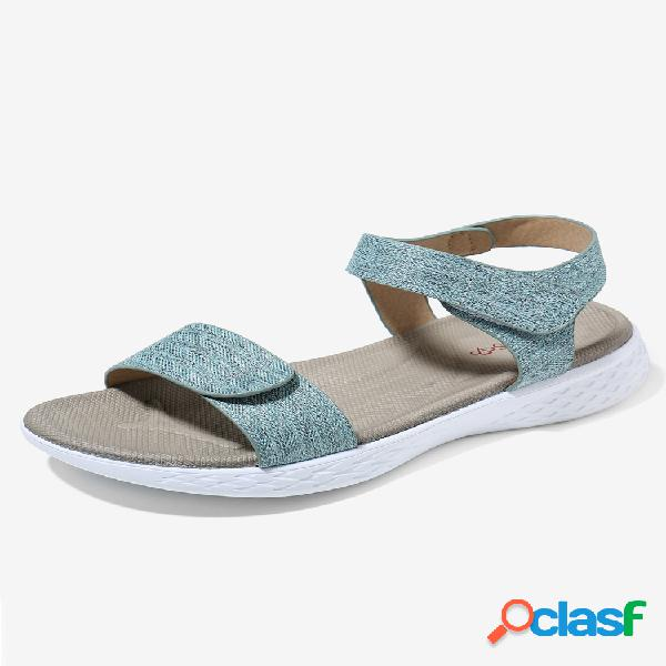 Mujer casual comfy wearable gancho loop slide sandalias