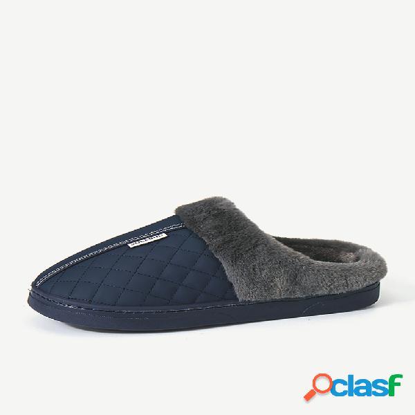 Hombre impermeable forro cálido soft zapatilla de casa casual sin cordones con suela botas