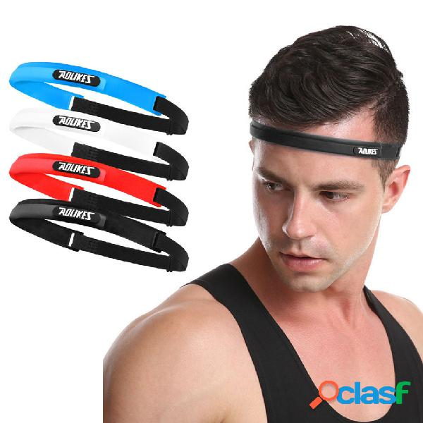 Yoga silicona diadema aptitud sports elastic sweatband al aire libre sports anti-slip hairband