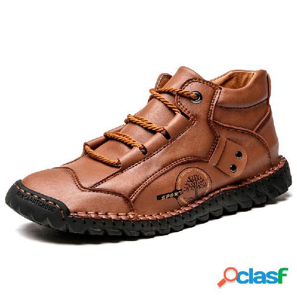 Zapatos de hombre soft transpirables antideslizantes cosidos a mano