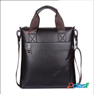 Bolso de hombre de negocios en cuero genuino hombro bolsa