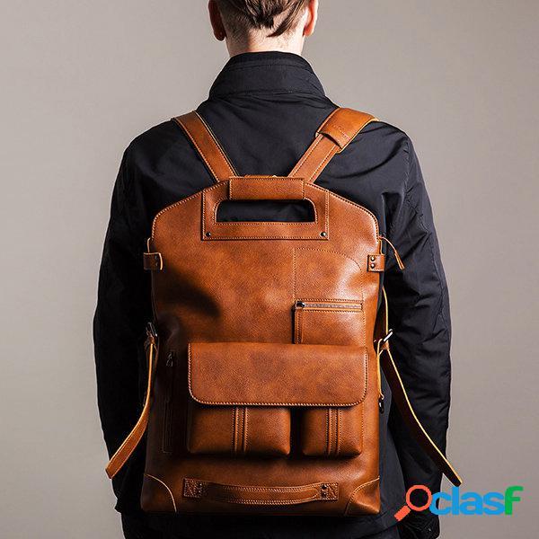 Bolso de hombre casual mochila multifunción sólido crossbody bolsa