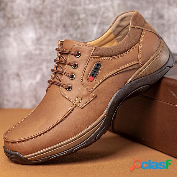 Menico hombre costura al aire libre zapatos de senderismo casaul antideslizantes