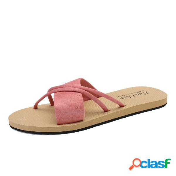 Mujer crossing banda color liso soft sofes flats zapatillas