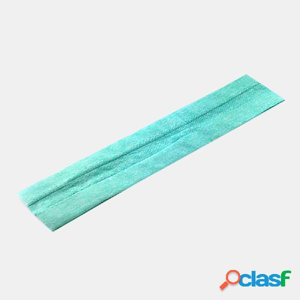 Antideslizante yoga cabello banda cinta elástica para correr con escoba absorbe el sudor