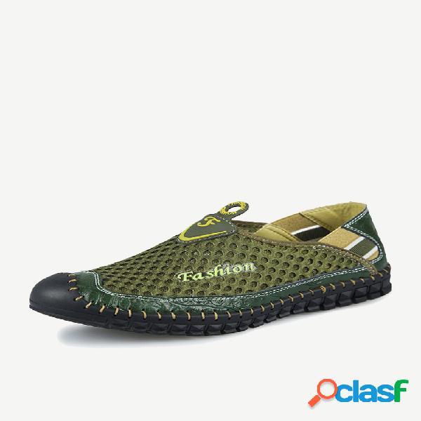 Zapatillas de deporte antideslizantes con costura a mano para hombre, empalme al aire libre