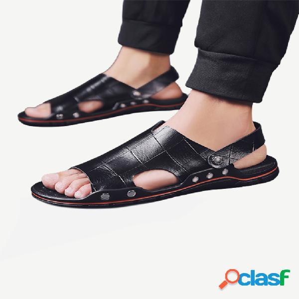 New season sandalias zapatos casuales de cuero para hombres zapatos transpirables para hombres al aire libre zapatos wild playa