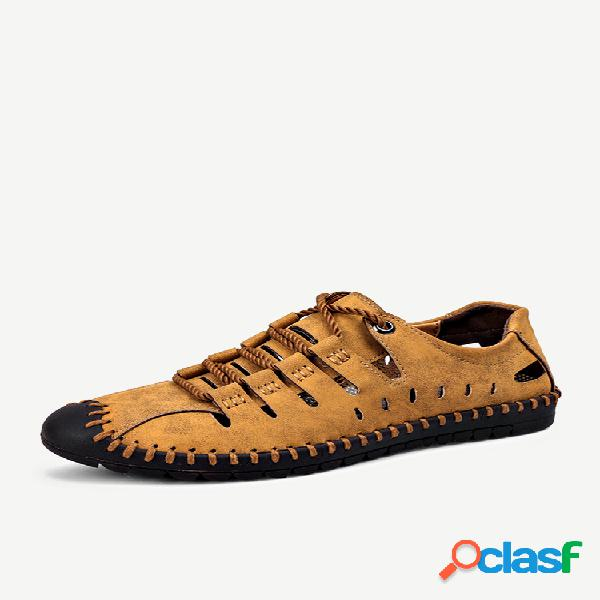Hombre soft bottom hollow casual sandalias