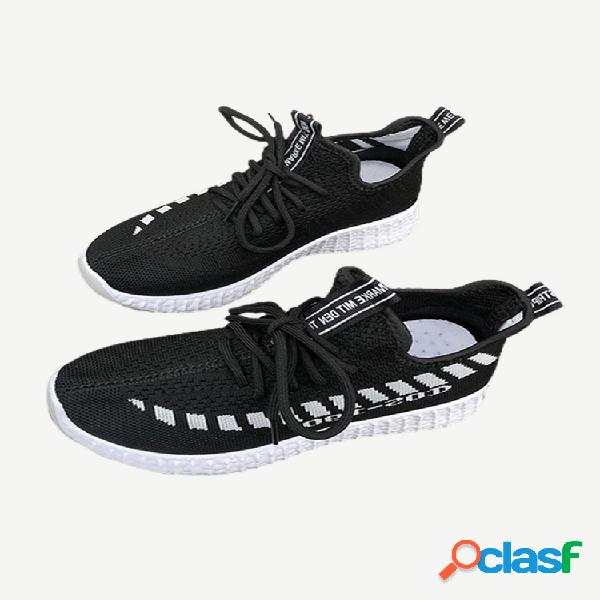 Zapatos deportivos transpirables cómodos para la temporada de flying weaving para mujer, zapatos para correr salvajes para mujer, nuevos zapatos para mujer