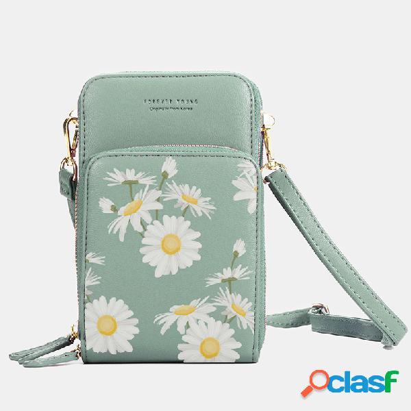 Mujer daisy clutch bolsa tarjeta bolsa teléfono bolsa bandolera bolsa