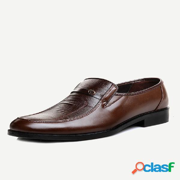 Zapatos casuales de cuero slip on para hombres