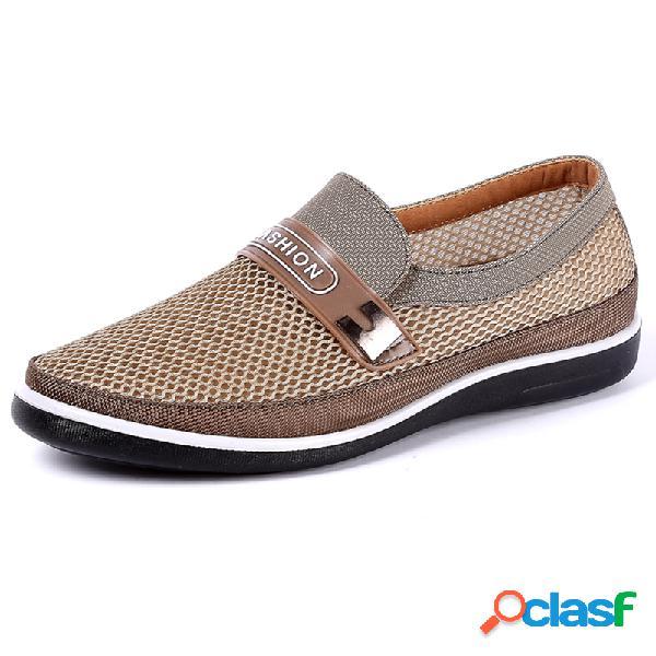 Zapatos casuales transpirables antideslizantes slip on para hombres
