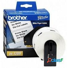 Brother etiqueta de dirección pre-cortada dk1209, 28.9 x 62mm, 800 etiquetas