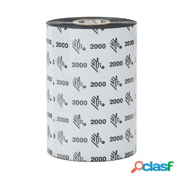 Cinta zebra con cera zipship 2000, 102mm x 450m