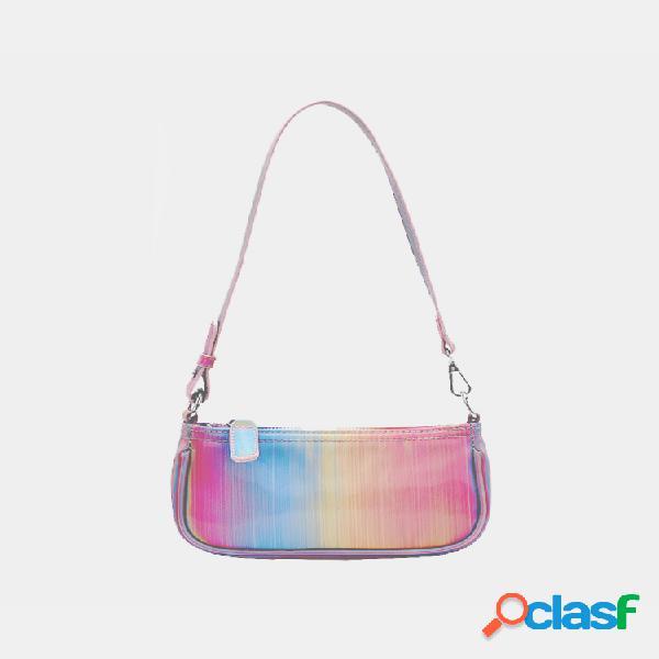 Mujer rainbow ombre casual hombro bolsa