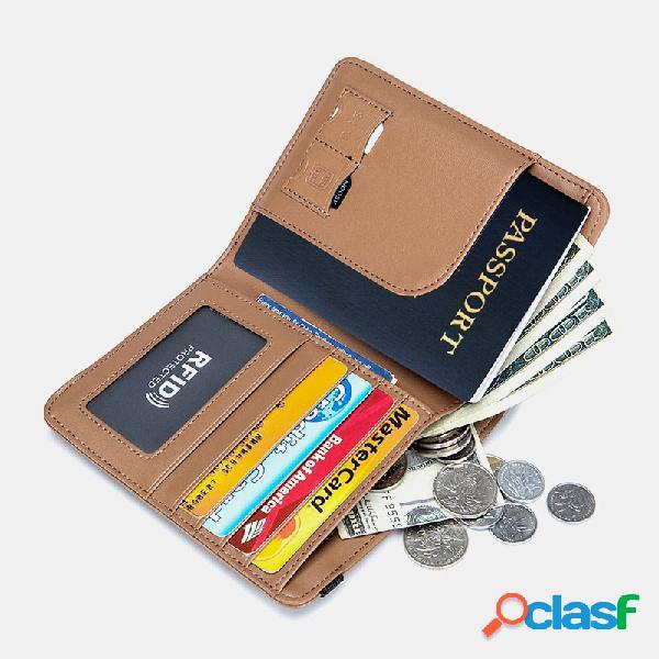 Mujer rifd piel genuina 4 ranuras para tarjetas 2 tarjetas de teléfono celular paquete de identificación multifuncional clip de dinero monedero