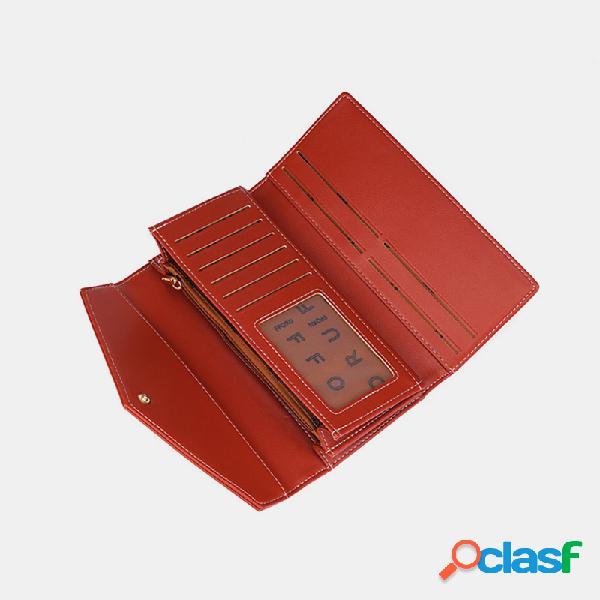 Mujer sobre 10 ranuras para tarjetas clip para dinero bolsillo para teléfono monedero monedero