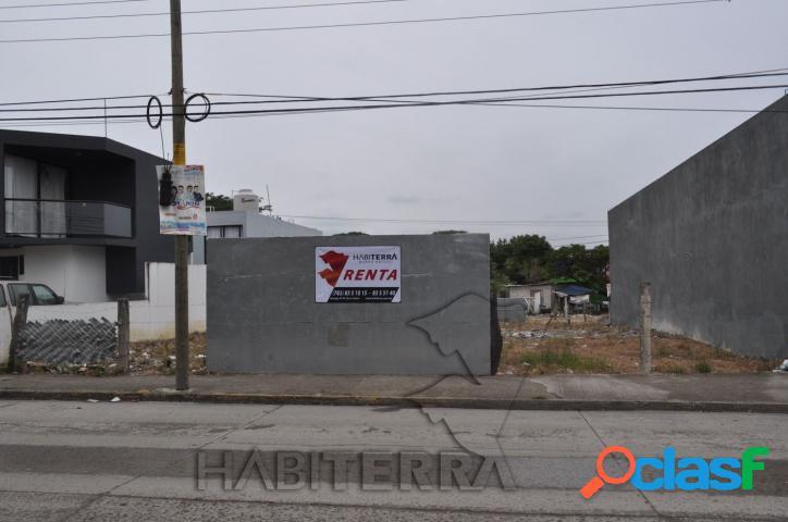 Terreno comercial en renta en col. las lomas tuxpan, veracruz.