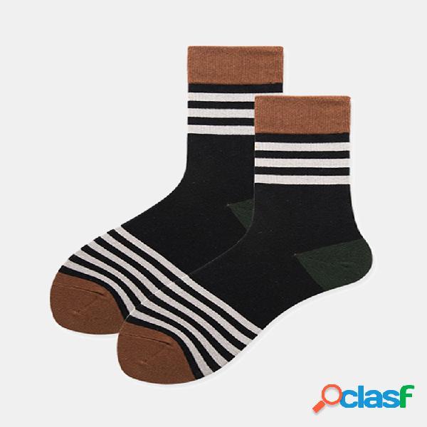 Mujer hombre algodón café negro calcetines tubo de viento universitario calcetines casual acogedor calcetines