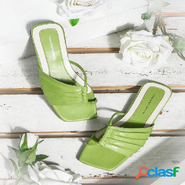 Mujer elegante side air comfy antideslizante playa zapatillas