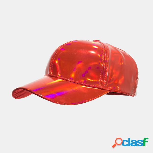 Hombre mujer pu pure color version láser gorra de béisbol parasol sombrero