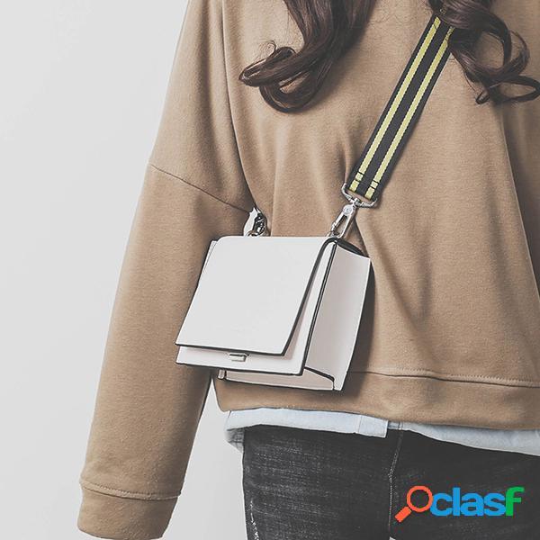 Mujer ocio crossbody bolsa elegante hombro de cuero de pu bolsa