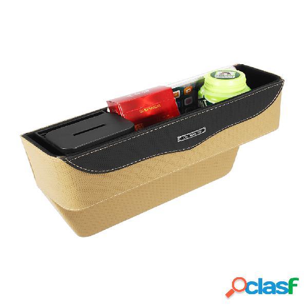 Cuero coche espacio para almacenamiento de hendiduras en el asiento bolsa caja rellenador automático de espacios para asientos organizador