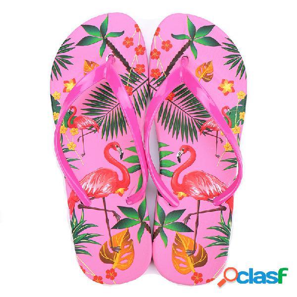 Mujer playa chanclas cuarto de baño zapatillas