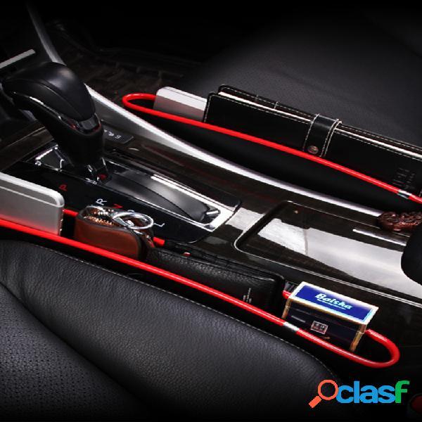 2pcs coche espacio de almacenamiento en el asiento caja teléfono móvil con grietas montado en el vehículo organizador