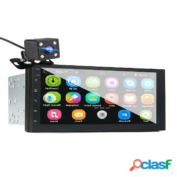 Imars 7 inch 2 din para androide 8.0 coche estéreo radio reproductor mp5 pantalla 2.5d gps wifi bluetooth fm con trasero cámara