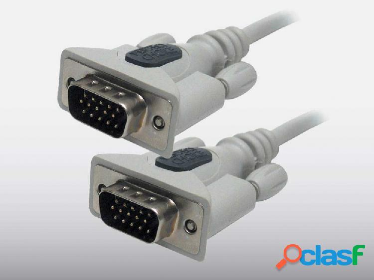 Perfect choice cable vga hd15 - hd15, 1.8 metros, gris